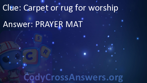 Carpet Or Rug For Worship Answers