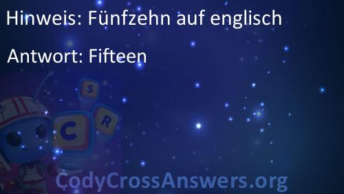 Fünfzehn Englisch